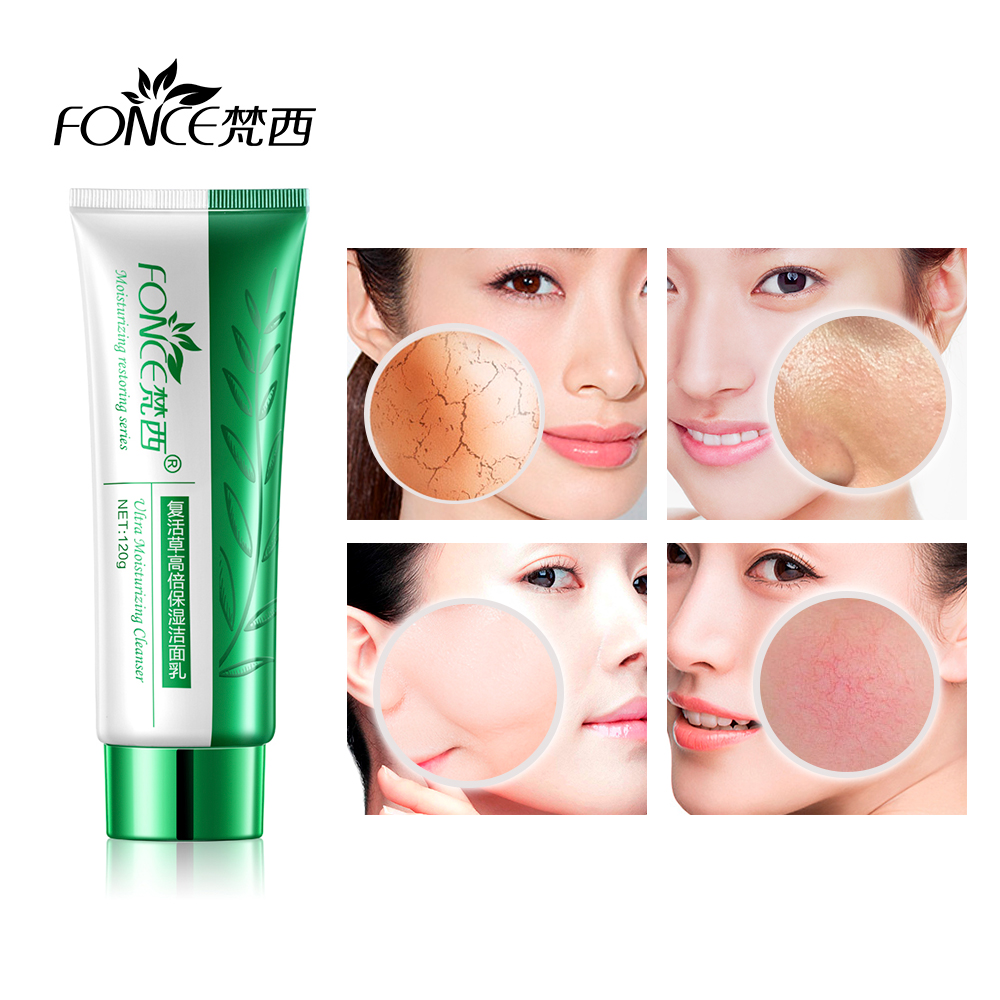 Fonce Anastatica Foam Cleanser Moisturizing Shrink Pore Oil control Women Facial Acne Treatment Plant Essence Washing Product in Cleansers from Beauty Health