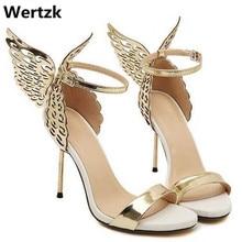 73af2f057d7e8 2019 العلامة التجارية النساء مضخات فراشة أجنحة حذاء حريمي كعب عالي أحذية  للنساء مثير اللمحة تو صندل كعب عالٍ أحذية الحفلات امرأة.