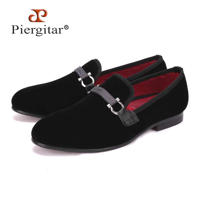 Fabric Buckle Handcraft Men Black Velvet shoes Men Smoking Slipper and Fashion Party Loafers Plus size Men Flats Size US 4-17 new fashion men striped cotton fabric shoes men plus size party and banquet loafers smoking slippers men s casual shoe us 4 17