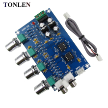 TONLEN NE5532 Preamp Pre Amplifier Audio Adjustment Plate Double AC12V HIFI Preamplifier Volume Tone Control Board