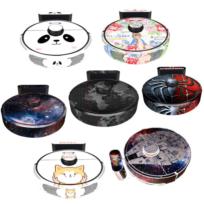 Cute Sticker For Xiaomi 3st Robot Vacuum Cleaner Roborock T65 T6 S6 Protective Film Sticker Paper Cleaner Parts Not Brush Filter