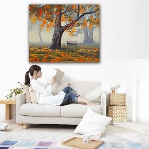 Home Decor моделирование картина маслом на холсте принт пейзаж DM16091515
