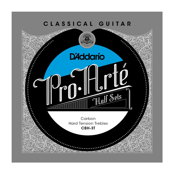 D'addario Pro Arte Klassikaline kitarri süsinikupoolne poolkomplekt Tavaline / kõva pinge CBH-3T CBN-3T