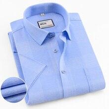 2019 Plaid Casual Shirt Mens Dress summer short sleeve Shirts Fashion man slim fit Brand high quality