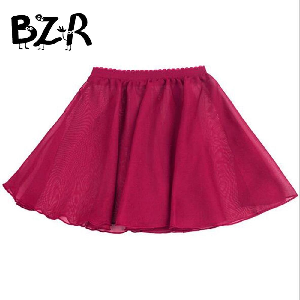 Ballet Tutu Skirt 90-150cm Colorful Summer Chiffon Short Skirt Pettiskirt Toddler Girls Skirts Kids Baby Ballet Dance Skirts