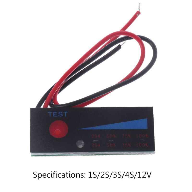 3.7V 2S 3S 4S 18650 ليثيوم أيون يبو ليثيوم 12V الرصاص حمض البطارية مستوى مؤشر اختبار شاشة الكريستال السائل متر وحدة قدرة الجهد