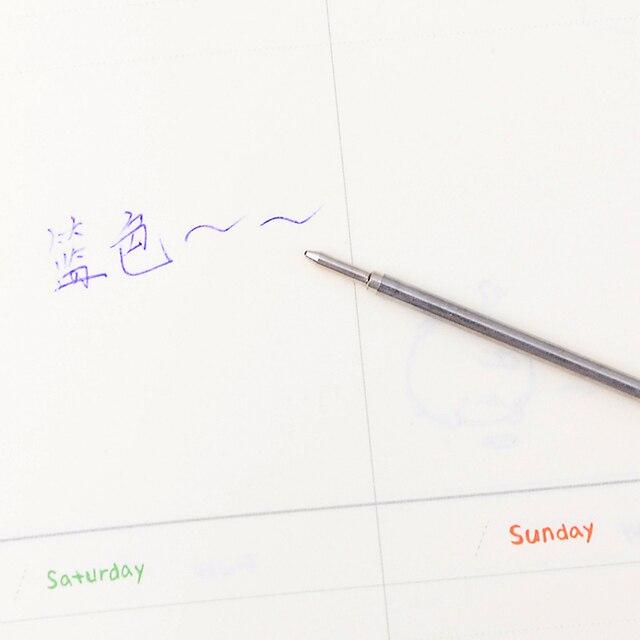 10 pièces/lot de haute qualité Style affaires stylo à bille recharges encre bleue pour école bureau papeterie écriture stylos fournitures
