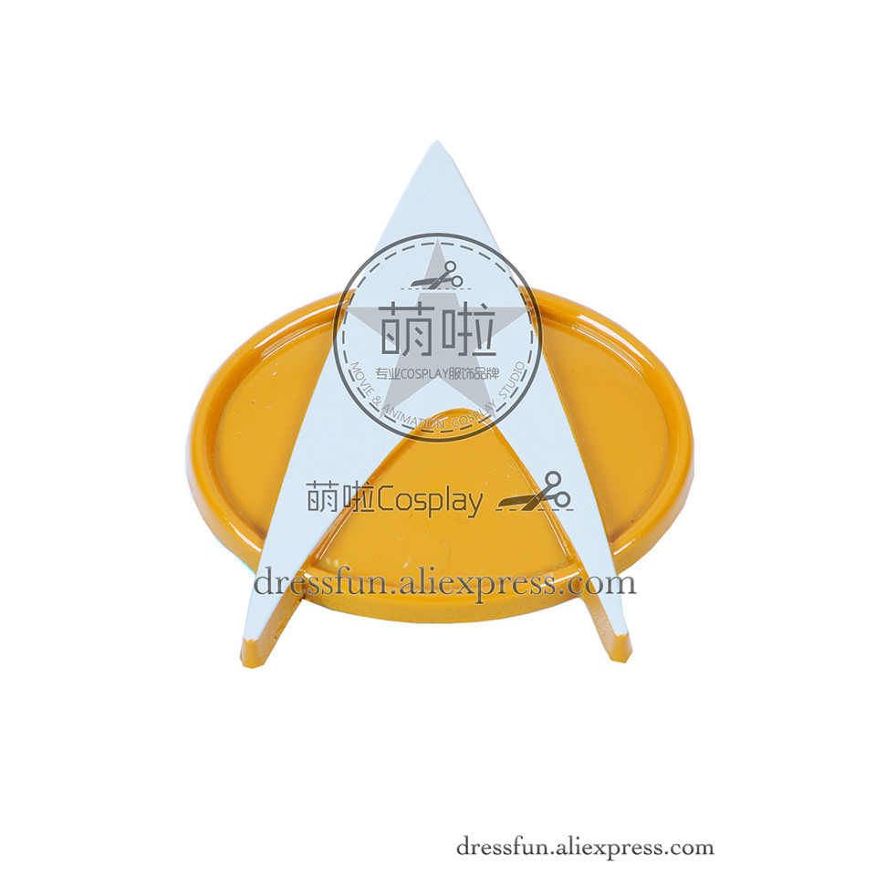 Badge Accessoy Brooch Metal B Version Ver Cosplay Yellow Badge Detachable Adult Halloween Star Trek