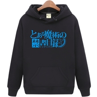New Toaru Majutsu no Index Misaka Mikoto Hoodie Anime Coat men's Clothing Casual Women Autumn winter Warm hooded Sweatshirts