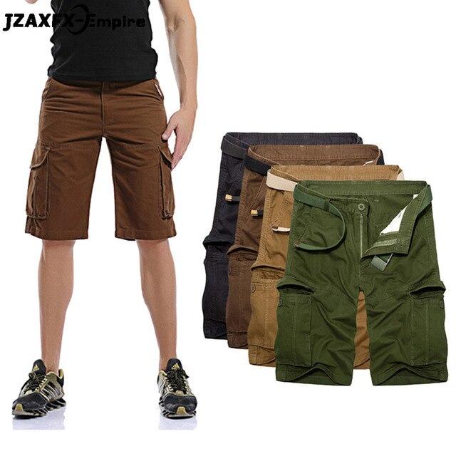 49dbb92539 New Arrival Men Military Short Summer Wear Cargo Shorts High Quality no  belt Cotton Loose Male Tactical Short Pants