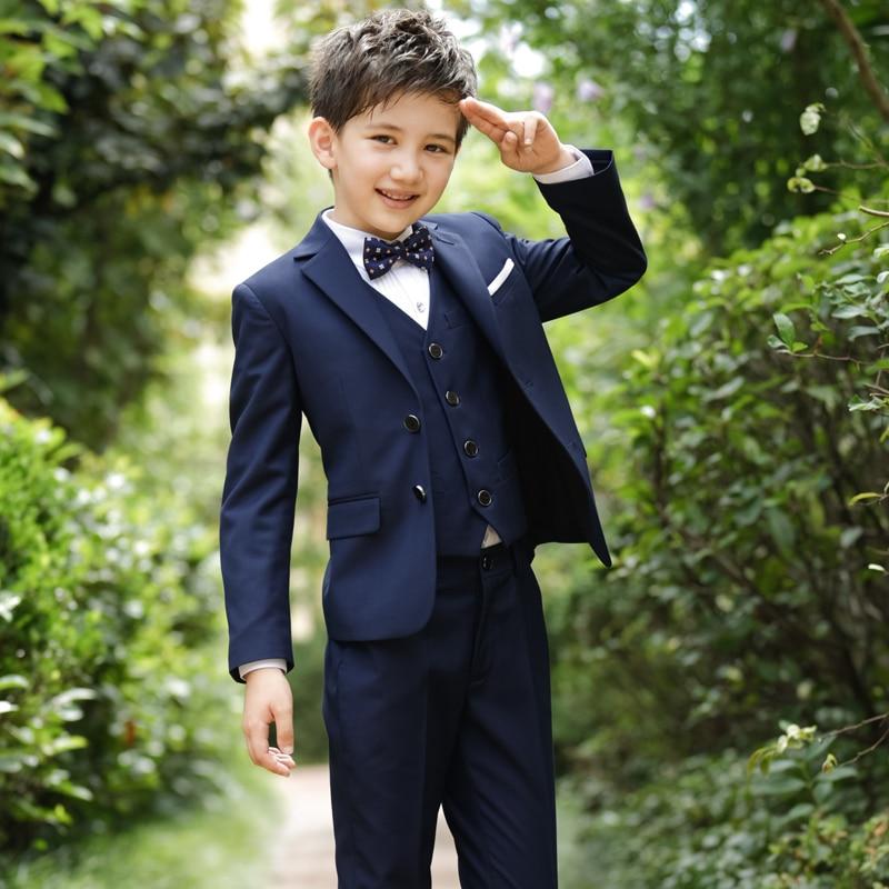 2018 autumn boys suits weddings kids prom suits black wedding blazersboys tuexdo children clothes boy formal classic blazers