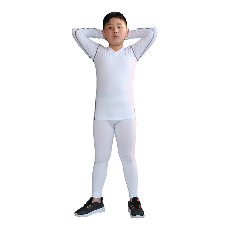 2019 Newest Kids Long Underwear Skin Base Layer Shirts And Pants Quick Dry Football Basketball Tops Bottom Moisture Wicking