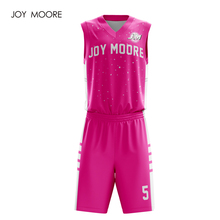 78ccb022709 JOY MOORE professional design breathable uniforms sets custom basketball  jerseys