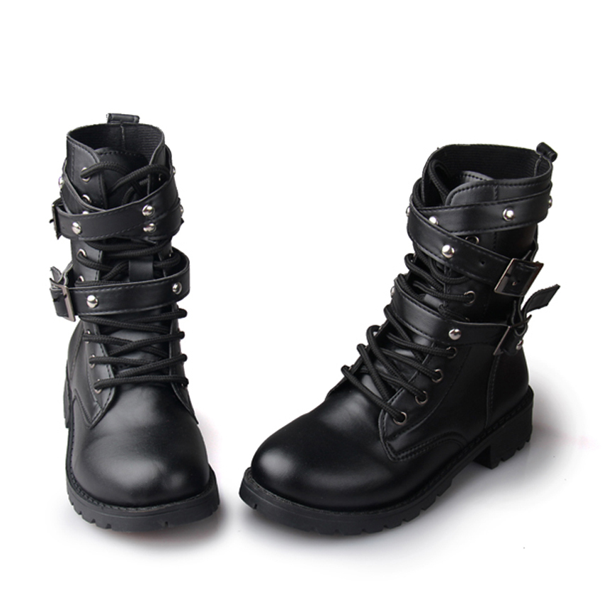 Perfect Women Knee High Lace Up Fashion Military Combat Boots Riding Style With Zipper | EBay