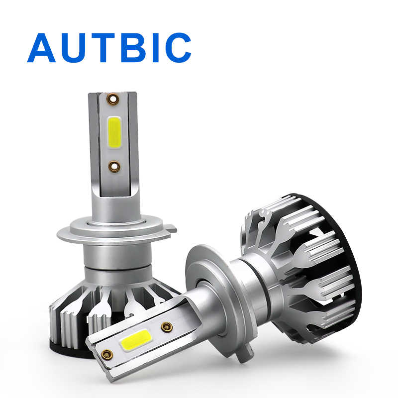 AUTBIC 12V Car Headlight H7 LED H4 H1 H11 9005 Hb3 9006 Hb4 LED Light Bulbs 50W 10000LM 6000K DOB Headlamp Kit Auto Fog Lamp
