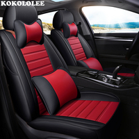 kokololee leather car seat cover For citroen c5 berlingo accessories c4 covers for vehicle seats