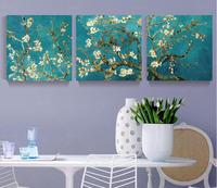 3 Piece Sets Printed Unframed Flower Tree Wall Pictures Hanging Canvas Oil Painting By Number Fashion