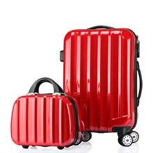 Mädchen Mode Gepäck Sets & Frauen Reisen Koffer ABS + PC Universalräder Trolley Gepäcktasche 20 «24» 28 «Rollgepäck 2 stücke