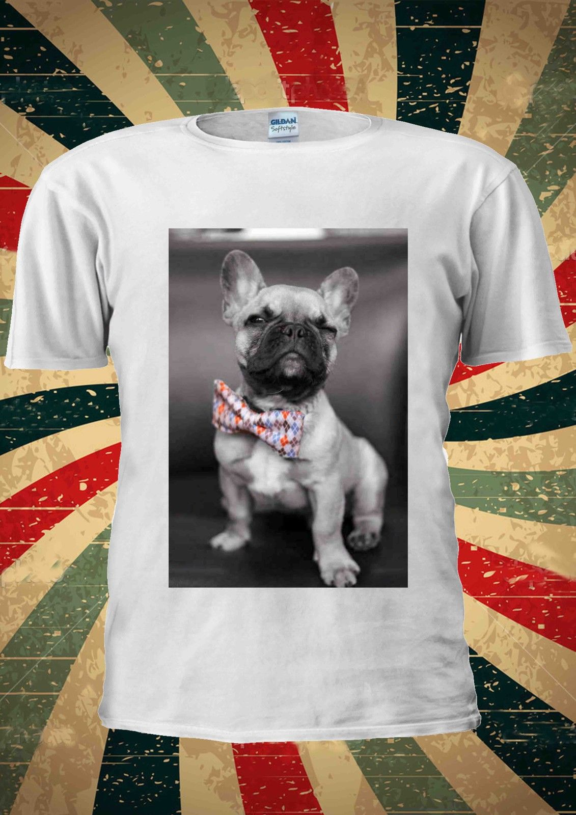 Dog With Bow-Tie Pug Life Tumblr Fashion T Shirt Men Women Unisex 1080 Cheap wholesale tees,100% Cotton For Man,T shirt printing