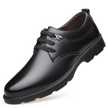 Dropshipping New Lace Up Business Wedding Genuine Soft Leather Oxford Shoes For Men Dress Shoes RoundToe Men Formal Shoes DB035 недорого