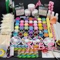 COSCELIA Set de Uñas de Acrílico Glitter Powder Primer Removedor Limpiador Lquid Kit de Aceite de Cutícula Lima de Uñas de Arte Cepillo de Uñas Kit de Herramientas consejos