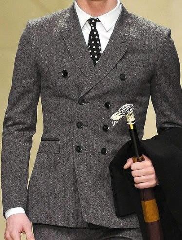 Slim Fit doble de pecho traje por encargo gris oscuro espiga traje ... 243edec5bff