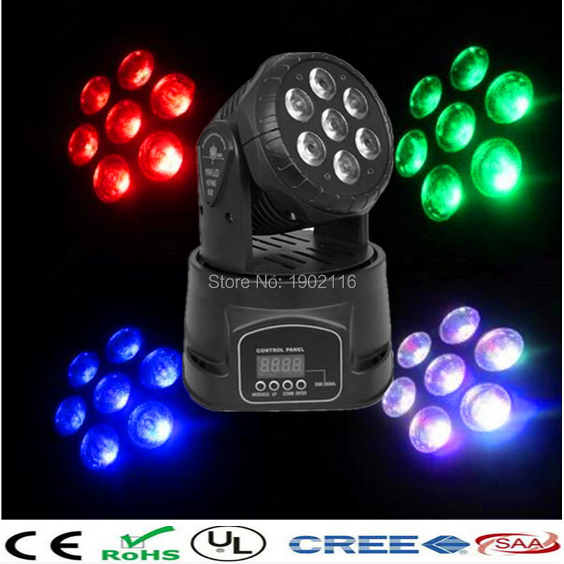 Professional led stage lighting 4in1 7x12w led wash moving head dj disco light wedding party holiday lights dj equipment led