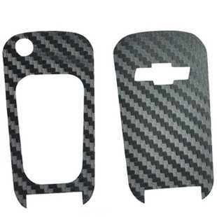 FUNDUOO 炭素繊維スマートリモートキーチェーン保護カバーのためにシボレークルーズマリ車アクセサリースタイリング