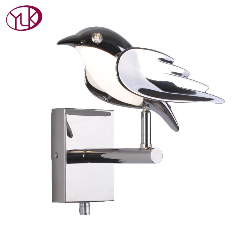 настенный светильник leds c4 wall fixtures 05 0468 14 55 Youlaike Modern Wall Lamp For Bedside Bird New Design Silver LED Wall Sconce Light Fixtures
