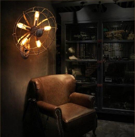 Apliques Мураль Ретро Лофт стиль промышленный винтажный настенный светильник с 5 огнями для дома Эдисона Настенный бра Selfdom электрический венти