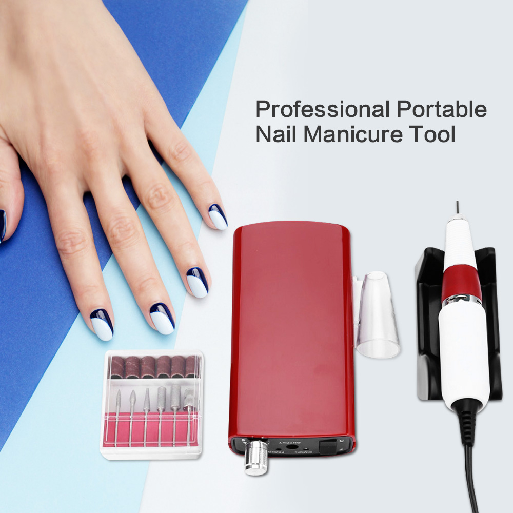Professional Portable Nail Manicure Tool Pedicure File Electric ...