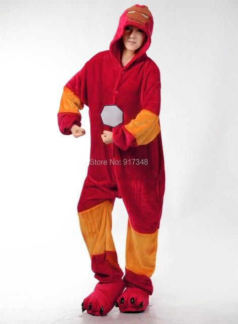 Cosplay Kigurumi Onesie Kostüm Iron Man Halloween Weihnachtsfeier ...