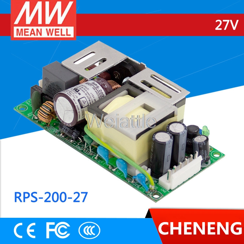 MEAN WELL original RPS-200-27 27V 7.5A meanwell RPS-200 27V 202.5W Single Output Green Medical TypeMEAN WELL original RPS-200-27 27V 7.5A meanwell RPS-200 27V 202.5W Single Output Green Medical Type