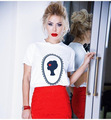 Novo 2016 Mulheres camisa Kawaii t feminino Harajuku Mulheres Casual Impresso Tees Tops Camisetas Mujer