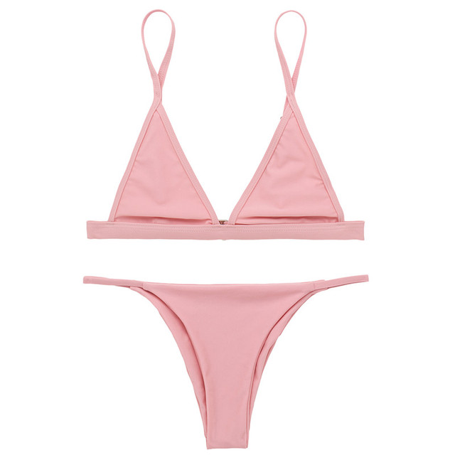 X-HERR Allusion New Style 2017 Bikini Women 5 Colors Wire Free Summer Beach Bikinis Mujer Basic Pattern Bikiny Set Women