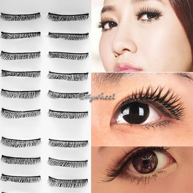10 Pairspack Women False Eyelashes Makeup Fake Long Crossnatural