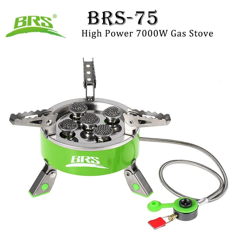 BRS 75 высокой мощности 7000 Вт газовая плита ультра легкий складной для пикника кемпинга пешего туризма открытый кухонная посуда портативный