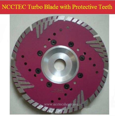 Lame de scie turbo diamantée 10 ''NCCTEC avec dents de protection (5 pièces par colis) | lame de coupe en marbre granit sec 250mm