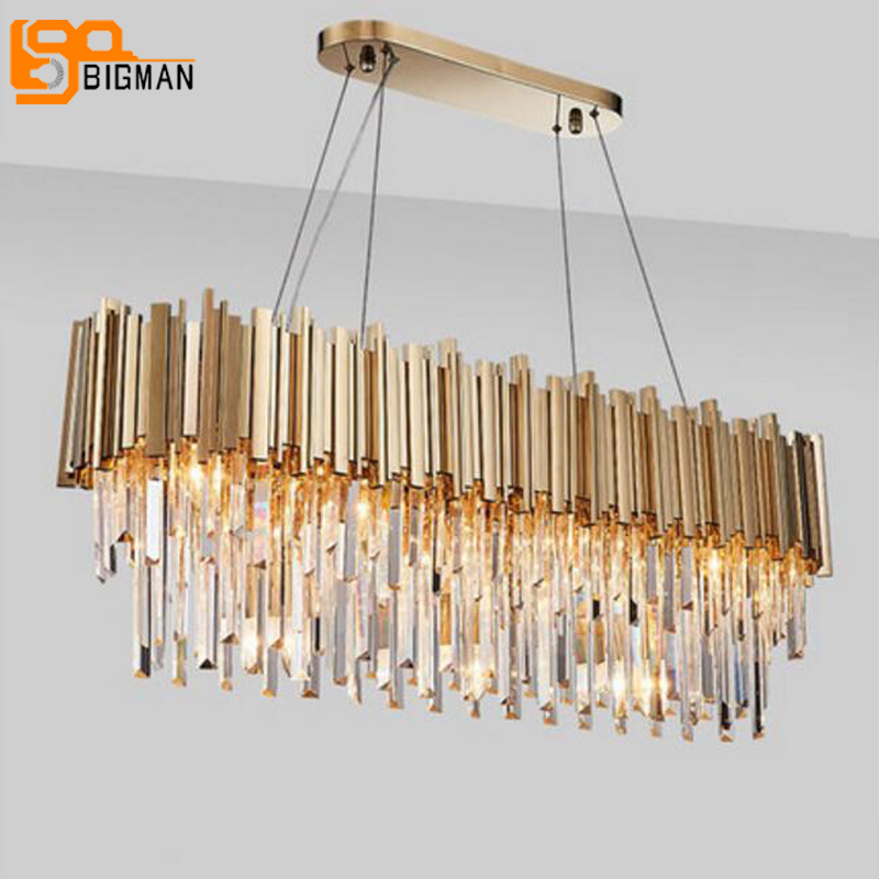 Nova iluminação moderna do candelabro de cristal de luxo para sala de estar sala de jantar ouro kristallen kroonluchter luzes LED