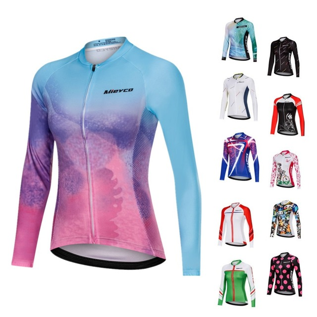 Mieyco camisa de manga longa para ciclismo, roupa feminina para ciclismo, camisa de secagem rápida, primavera/outono 2020