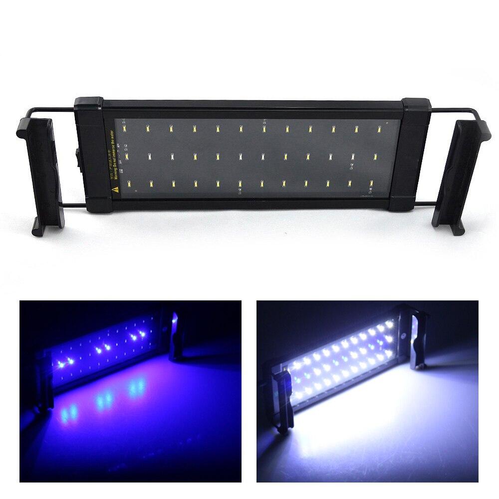 Fish aquarium lighting systems - 6w Aquarium Light Fish Tank Smd Led Light Lamp 2 Mode 30 45cm White And