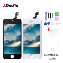 For iPhone 5S LCD Display Touch Screen Digitizer Assembly Replacement with Free Gifts Temper Glass+Tools Kit AAA Quality все цены