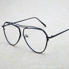 bc56a8e516d903 Vintage eyewear metalen frames cat eye bril clear lens vrouwen mannen  oversized brillen optische bril vrouwelijke