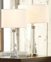 Crystal Lamps Table White Lampshade Bedroom Living Room Deco Bedside Lamp