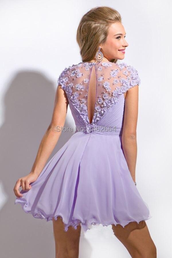 Lilac Cocktail Dress - Ocodea.com