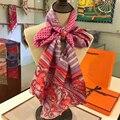 Las Mujeres a Estrenar Larga Twilly Bufanda de Seda Impresa Bufandas de Doble Cinta De Seda Para Mujer Ropa Accesorios 20*160 cm BY173125