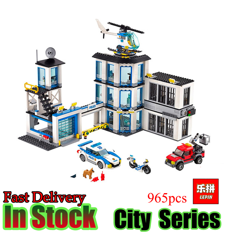 цены  Lepin 02020 965Pcs City Series The New Police Station Educational Building Blocks Bricks Boy Toys Model Gift Compatible 60141