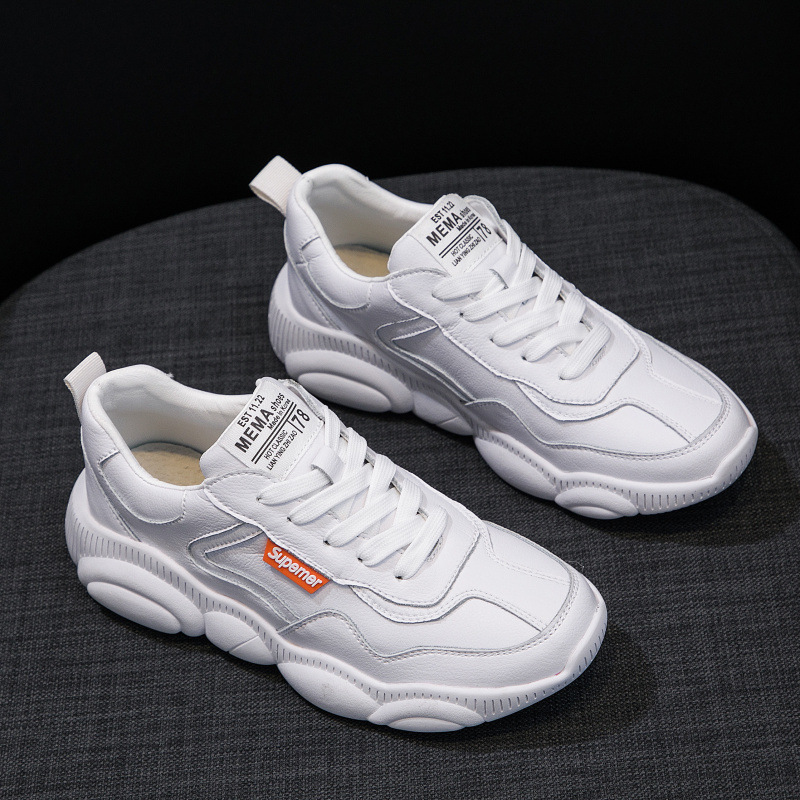 Genuine Leather Women Sneakers student White Shoes Platform Bear Woman Casual Shoes Flats Spring Autumn Female Running ShoesGenuine Leather Women Sneakers student White Shoes Platform Bear Woman Casual Shoes Flats Spring Autumn Female Running Shoes