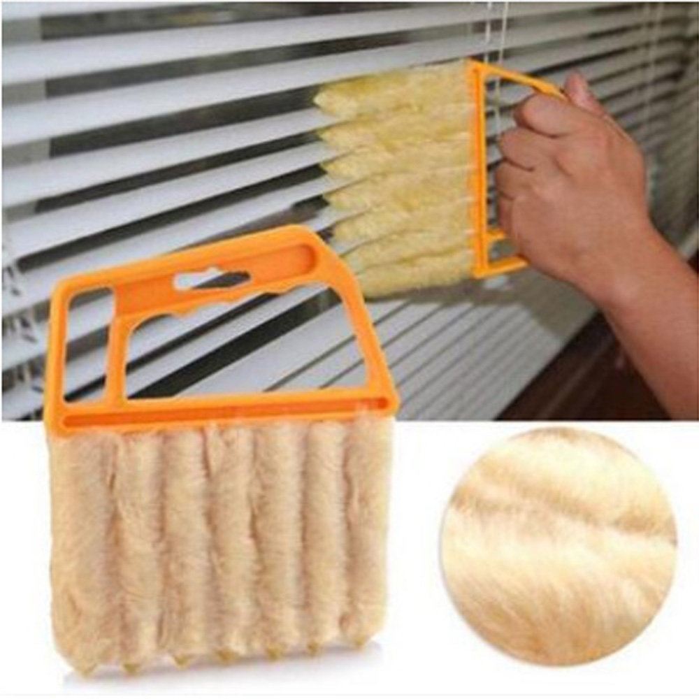Curtain Handle Washable Microfiber 7 Hand Window Mini-blind Cleaning Brush Conditioner Cleaner Duster Household Tool Accessories