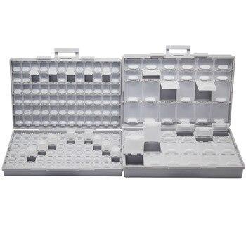 Пустая коробка для хранения AideTek SMT, ящики для хранения инструментов, отсеки для каждого корпуса с крышкой SMD BOXALL144 + BOXALL48, органайзер для руко...